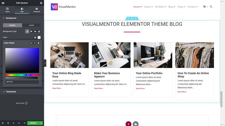 How To Change Sections Background Color In Elementor WordPress Plugin
