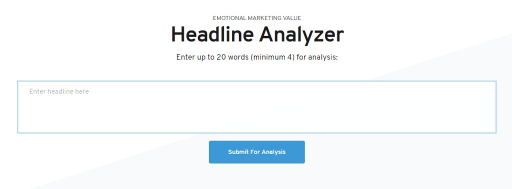 EMV Headline Analyzer Best Blogging Tools ultimate list