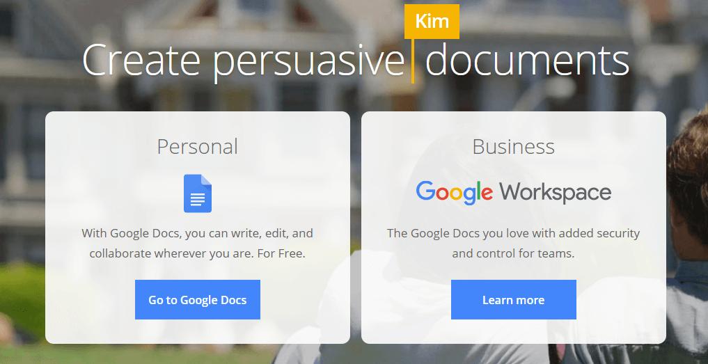 Google Docs Blogging Tools List