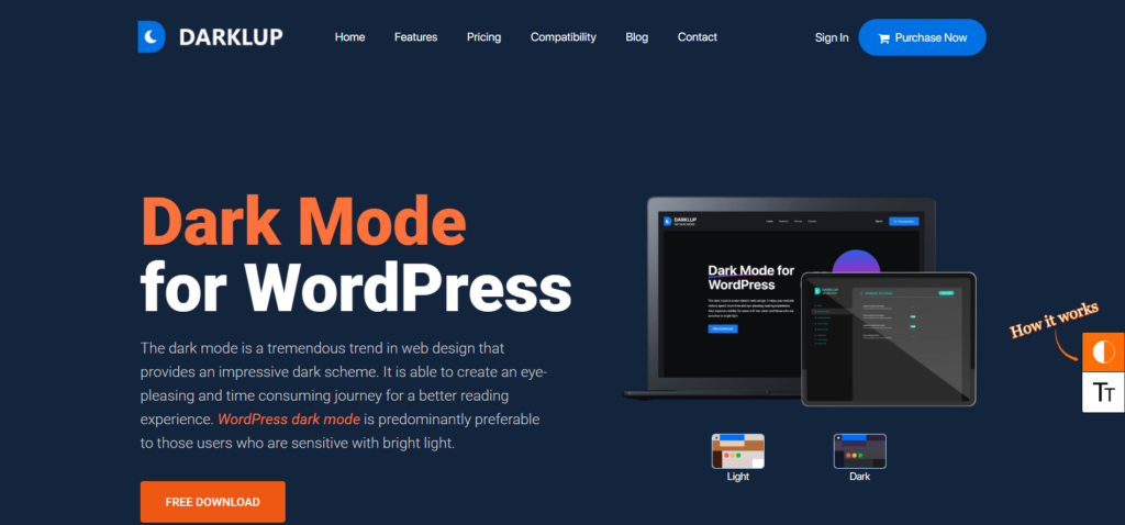 Step 1: Install Darklup Dark Mode Plugin for WordPress