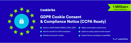 CookieYes GDPR Cookie Consent & Compliance Notice Plugin - Ultimate List of Plugins to Make and Scale a Fully Functional WooCommerce Store